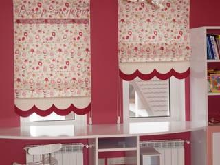 """Текстильный декор в розовую комнату маленькой """"принцесы"""".: Детская комната в . Автор – Студия Декор-эксперт"""