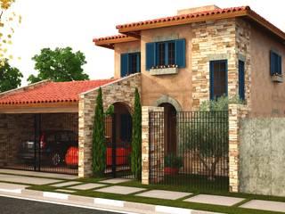 Casas de estilo  por Leonardo Morato Arquitetura