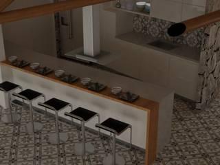 CASA VILLA DE LEYVA Cocinas de estilo ecléctico de ESTUDIO DUSSAN Ecléctico