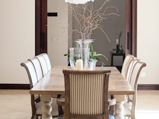 Home in Athol:  Dining room by Tru Interiors,