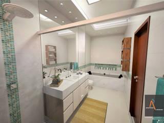 Moderne badkamers van Ao Cubo Arquitetura e Interiores Modern