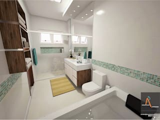 Kamar Mandi Modern Oleh Ao Cubo Arquitetura e Interiores Modern