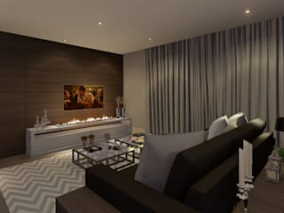 Lopes e Theisen Arquitetura Modern living room