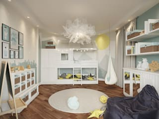 Scandinavian style nursery/kids room by rudakova.ru Scandinavian