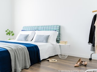 Fresh Mini Staging Camera da letto minimalista di Venduta a Prima Vista Minimalista