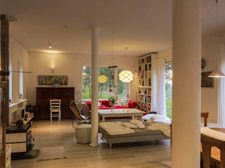 HP HOUSE Livings de estilo escandinavo de Moraga Höpfner Arquitectos Escandinavo