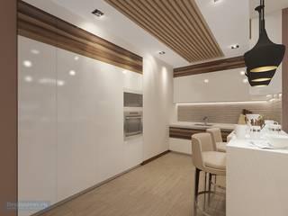 Salas / recibidores de estilo moderno por Студия интерьера Дениса Серова