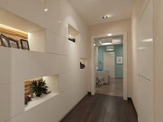 Pasillos, vestíbulos y escaleras de estilo moderno de Студия интерьера Дениса Серова Moderno