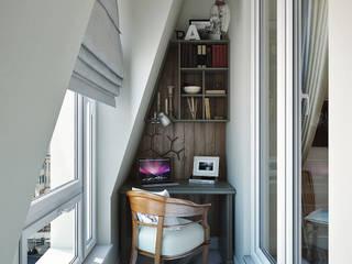 Квартира в стиле эклектика: Tерраса в . Автор – Дарья Баранович Дизайн Интерьера