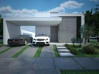 Casas estilo moderno: ideas, arquitectura e imágenes de Construtora Lima Projetos Moderno