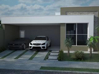 Fachadas Casas modernas por Construtora Lima Projetos Moderno