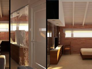 Remodelacion y ampliación de vivienda unifamiliar: Dormitorios de estilo  por Estudio Bono-Sanmartino
