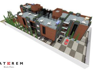 LATEREM BRICK FLATS: Terrazas de estilo  por Del Castillo Arquitectos