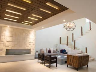 PX Modern Living Room by TAMEN arquitectura Modern