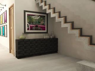 TAMEN arquitectura Pasillos, vestíbulos y escaleras de estilo moderno