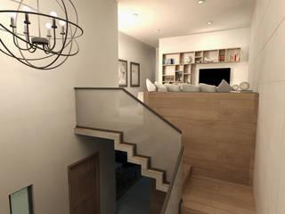 الممر الحديث، المدخل و الدرج من TAMEN arquitectura حداثي
