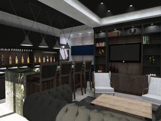 DV Modern Media Room by TAMEN arquitectura Modern
