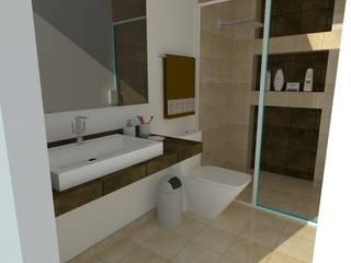 Salle de bain moderne par MVarquitectos Moderne