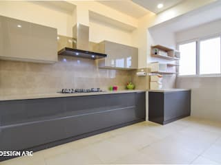 Apartment Interior Design Bangalore 4BHK Modern kitchen by Design Arc Interiors Interior Design Company Modern