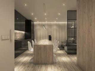 Projekt wnętrz mieszkania Minimalistyczna jadalnia od CUDO - grupa projektowa Minimalistyczny