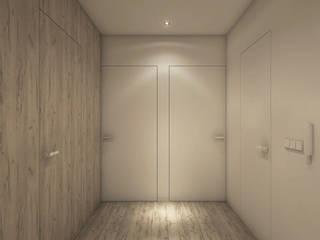 Projekt wnętrz mieszkania Minimalistyczny korytarz, przedpokój i schody od CUDO - grupa projektowa Minimalistyczny
