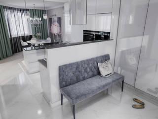 AlexLadanova interior design Modern Kitchen Grey