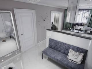 AlexLadanova interior design Modern Corridor, Hallway and Staircase Grey