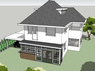 Uitbreiding woonkamer en keuken: klasieke Huizen door De E-novatiewinkel