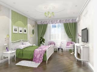 Проект Спальня в эклектичном стиле от Куличков Владимир. Архитектура. Дизайн интерьера Эклектичный
