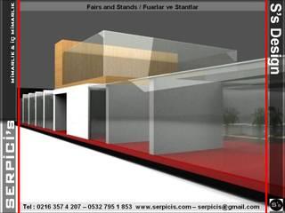 SERPİCİ's Mimarlık ve İç Mimarlık Architecture and INTERIOR DESIGN Sedi per eventi moderne Vetro Trasparente
