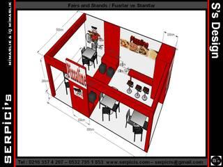 SERPİCİ's Mimarlık ve İç Mimarlık Architecture and INTERIOR DESIGN Sedi per eventi moderne Legno Variopinto