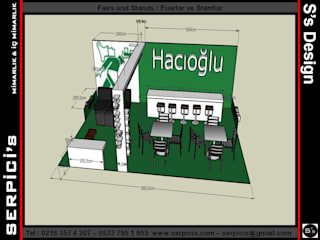 SERPİCİ's Mimarlık ve İç Mimarlık Architecture and INTERIOR DESIGN Event Venue Modern Kayu Green