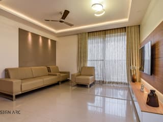 Apartment Interior Design Bangalore 4BHK Modern living room by Design Arc Interiors Interior Design Company Modern