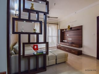 Interior Design Bangalore 2BHK Apartment Modern living room by Design Arc Interiors Interior Design Company Modern