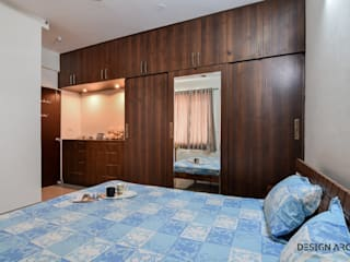 Interior Design Bangalore 2BHK Apartment Mediterranean style bedroom by Design Arc Interiors Interior Design Company Mediterranean