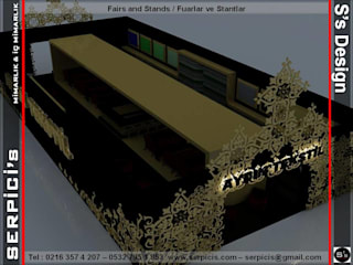 SERPİCİ's Mimarlık ve İç Mimarlık Architecture and INTERIOR DESIGN Event Venue Klasik Kayu Amber/Gold
