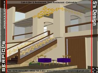 SERPİCİ's Mimarlık ve İç Mimarlık Architecture and INTERIOR DESIGN Gastronomia in stile tropicale Legno composito Effetto legno