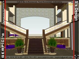 SERPİCİ's Mimarlık ve İç Mimarlık Architecture and INTERIOR DESIGN Gastronomia in stile tropicale Legno composito Marrone