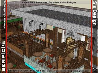 SERPİCİ's Mimarlık ve İç Mimarlık Architecture and INTERIOR DESIGN Gastronomi Klasik Kayu Buatan Wood effect