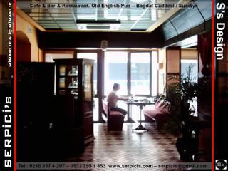 SERPİCİ's Mimarlık ve İç Mimarlık Architecture and INTERIOR DESIGN Bar & Club moderni PVC Beige