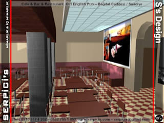SERPİCİ's Mimarlık ve İç Mimarlık Architecture and INTERIOR DESIGN Bar & Klub Gaya Rustic Komposit Kayu-Plastik Wood effect