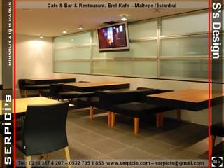 SERPİCİ's Mimarlık ve İç Mimarlık Architecture and INTERIOR DESIGN Gastronomia in stile moderno Vetro Grigio