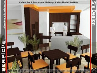 SERPİCİ's Mimarlık ve İç Mimarlık Architecture and INTERIOR DESIGN Gastronomi Gaya Rustic Kayu Wood effect