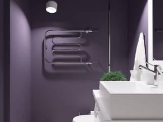 Черника с молоком: Ванные комнаты в . Автор – Юлия Буракова, Эклектичный