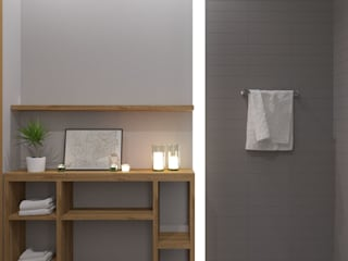 В сером цвете: Ванные комнаты в . Автор – Юлия Буракова, Эклектичный