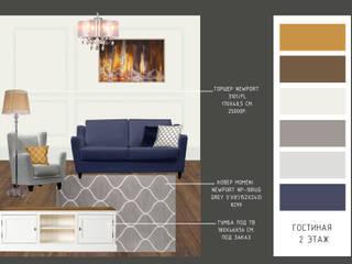 Проект по декорированию интерьера в стиле американской классики: Гостиная в . Автор – Юлия Буракова, Классический