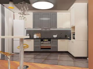 Студия мини Кухни в эклектичном стиле от Первое Дизайн-Бюро Эклектичный