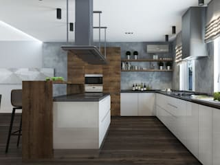 ДизайнМастер Eclectic style kitchen Brown