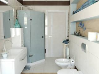 Коттедж - ванная, с/у, бойлерная: Ванные комнаты в . Автор – Первое Дизайн-Бюро,