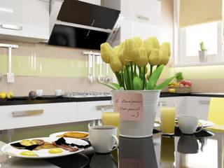 Квартира - гостиная и кухня: Кухни в . Автор – Первое Дизайн-Бюро,